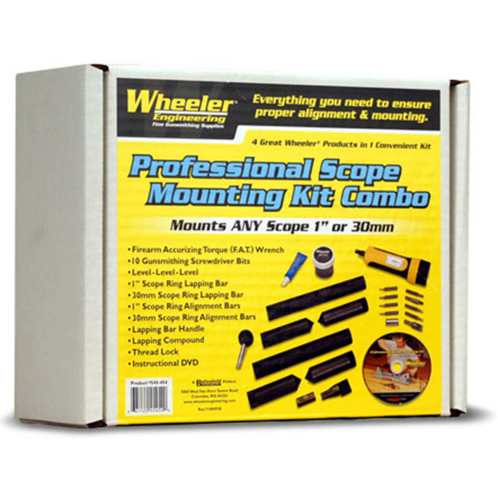 Wheeler Scope Mounting Kit Combo (1-Inch, 30mm) Multi-Colored