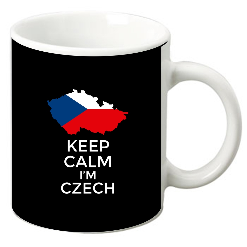 Keep Calm I'm Czech 11 Oz. White Ceramic Coffee Mug