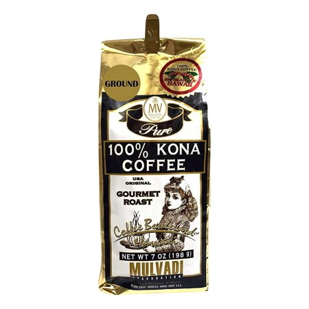 Hawaii Mulvadi 100% Pure Kona Coffee 7 oz. Medium Roast