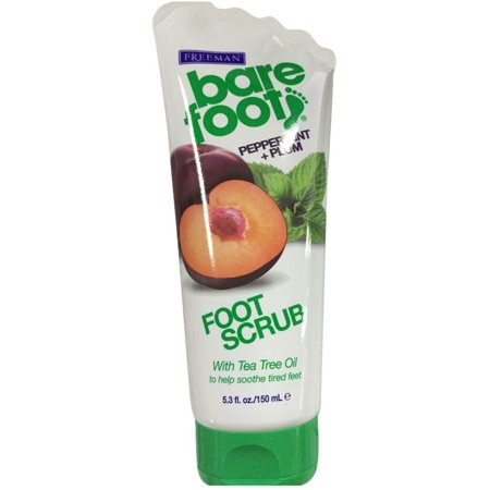 Freeman Bare Foot Creamy Pumice Foot Scrub Peppermint & Plum 5.30 oz (Pack of 2)