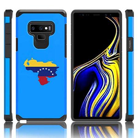 Shockproof Impact Hard Soft Case Cover for Samsung Galaxy (Note 9) Venezuela Venezuelan Flag - Venezuela Note