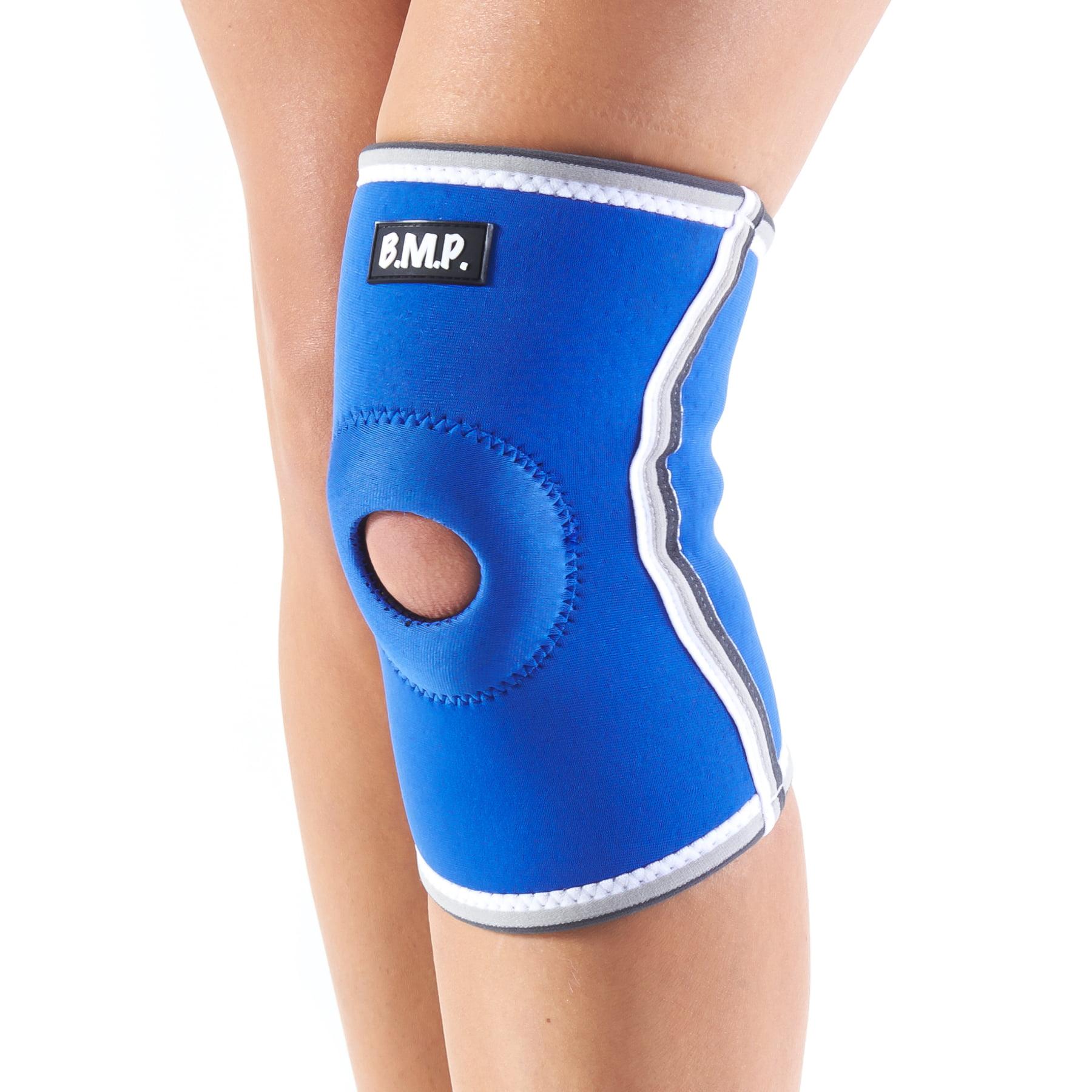Black Mountain Products Neoprene Knee Brace / Knee Compression Sleeve - Blue, Medium