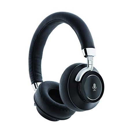 Audiolux Bluetooth Wireless Over-Ear DJ Stereo Professional Studio Headphones HD Beats w/ Hands Free Mic One-Touch Voice Assist for Siri or Google Assistant 15 Hours Play Time Noise Cancelling