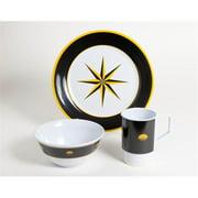 Galleyware 1079-S 18 Decorated Melamine Non-skid 18 Piece Dinnerware Gift Set
