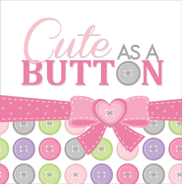 Cute as a Button Girl Lunch Napkins (16 ct)