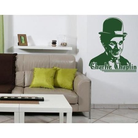 Charlie Chaplin Wall Decal Vinyl Art Home Decor Royal Blue 16in X 18in