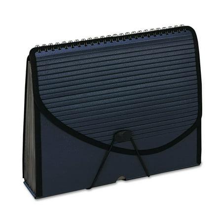 Pendaflex 13-Pocket Expanding Spiral File Letter Foam Poly Navy Blue 01119