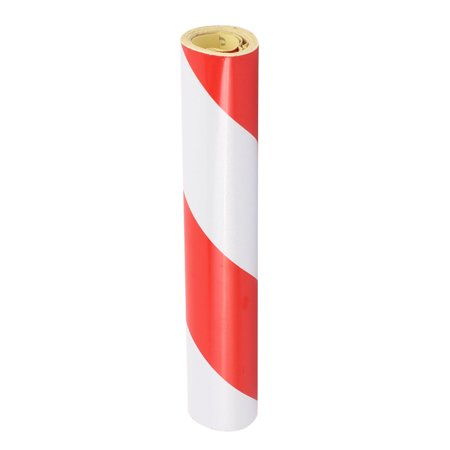 20cm x 2M Single Sided Adhesive Reflective Warning Tape Tilt Red White - image 1 of 3
