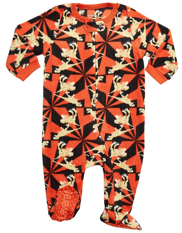 Leveret Fleece Footed Pajama Sleeper T Rex 4 Years