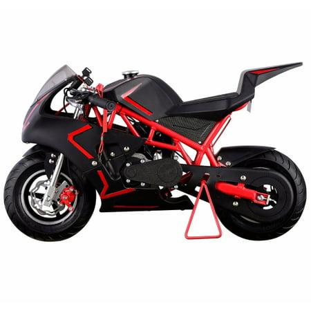 40CC 4-Stroke GAS Pocket Bike MINI Motorcycle EPA, Red