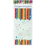 3 Pack Rainbow Birthday Party Cellophane Bags 20 Count