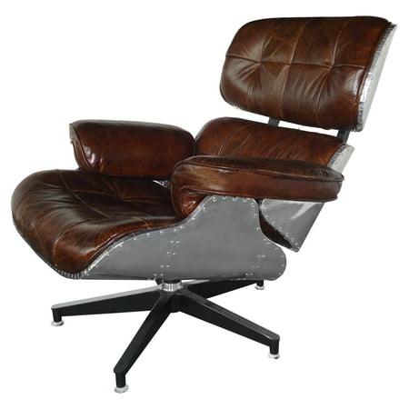 CDI International Furniture Vintage Leather Office Chair - CDI International Furniture Vintage Leather Office Chair - Walmart.com