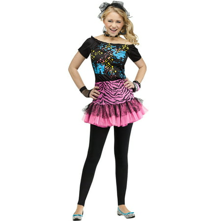 80's Pop Party Teen Costume](80's Halloween Party Decorations)