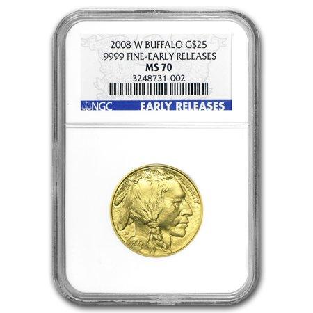 2008-W 1/2 oz Gold Buffalo MS-70 NGC (ER, Registry - Ngc Buffalo