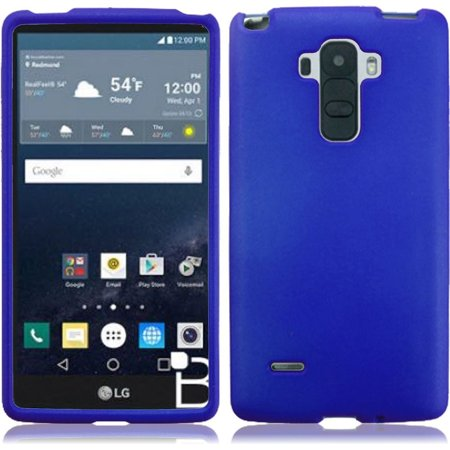 Rubberized Blue Snap - For LG G Stylo LS770 G4 Stylus Rubberized Snap On Plastic - Blue