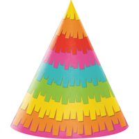"""Club Pack of 48 Vibrantly Colored Fiesta Themed Party Hats 7"""""""