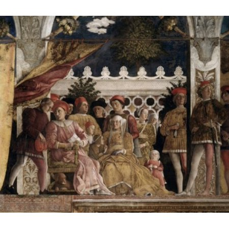 Camera Degli Sposi The Court Andrea Mantegna (1431-1506 Italian) Fresco Palazzo Ducale Mantua Italy Canvas Art - Andrea Mantegna (18 x 24)
