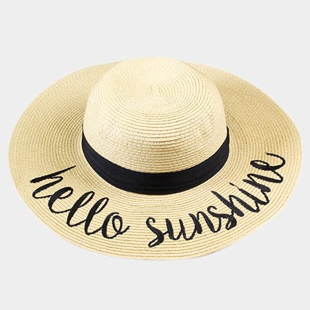 Amtal Women Wide Brim Embroidered Beach Pool Floppy Summer Vacation Sun Hat  - Walmart.com 044c4402eef
