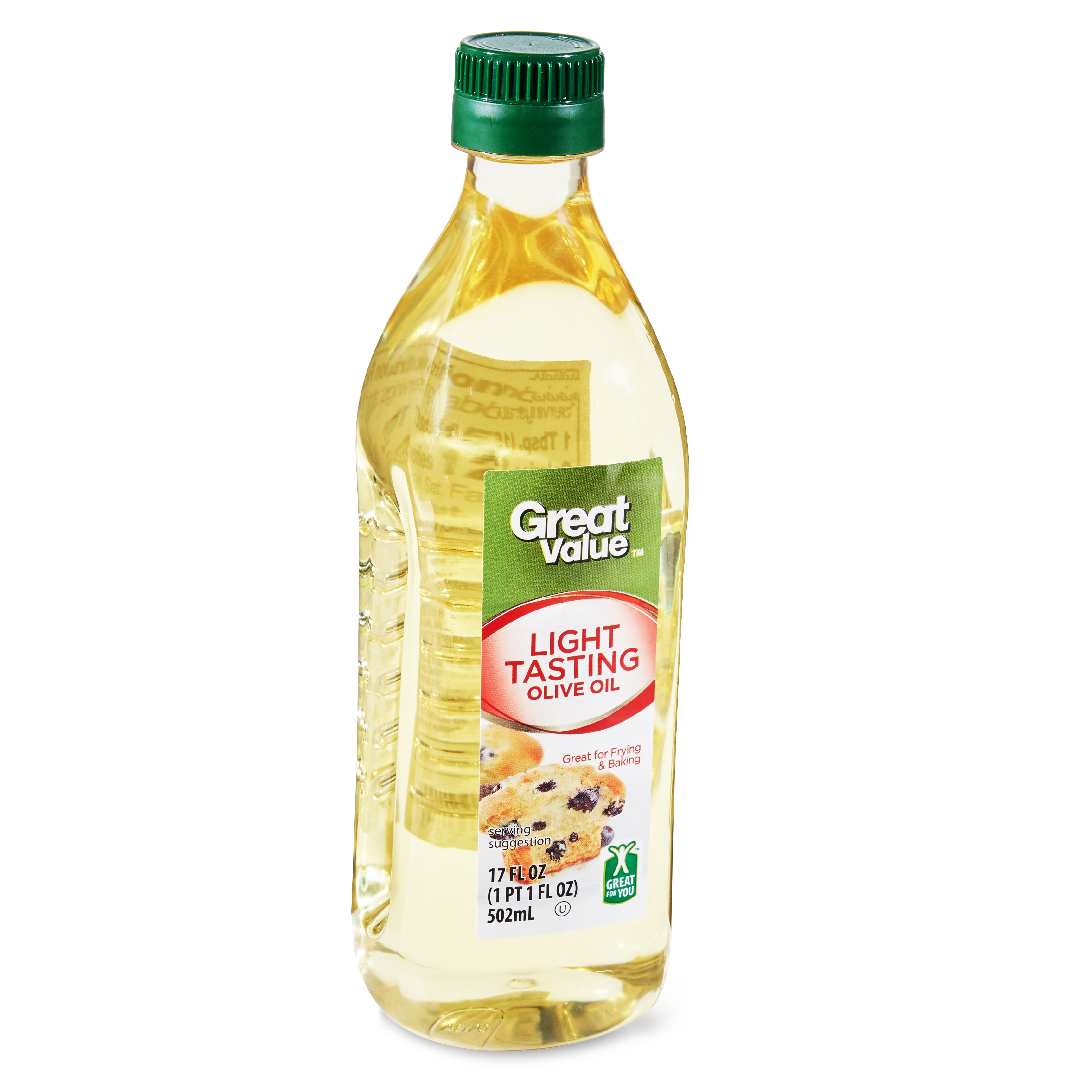 (3 Pack) Great Value Light Tasting Olive Oil, 17 fl oz
