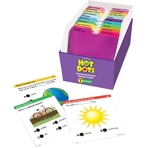 Hot Dots Standards-Based Science Review Card Set, Grade 1
