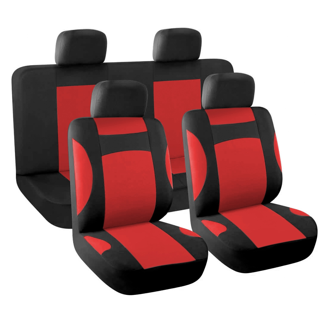 New Car  Covers Full Set for Auto w/ 4 Headrests