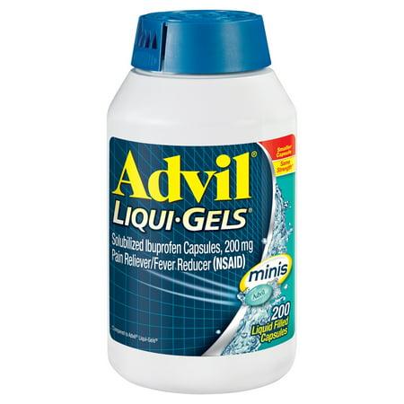 Advil Liqui-Gels Minis Pain Reliever Fever Reducer 200