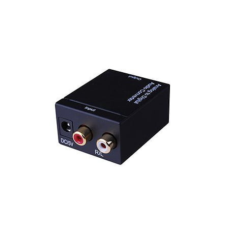 Vanco 280519 RCA Analog to Coaxial Digital or Toslink Audio Converter