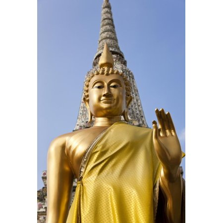 Buddha Statue, Temple of the Dawn (Wat Arun) in Bangkok Thailand Print Wall Art By Peter