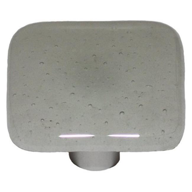 Hot Knobs HK9004 KA Aqua Glow Copper Tint Square Glass Cabinet Knob    Aluminum Post