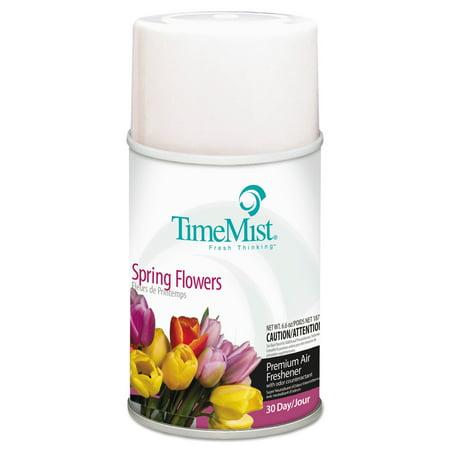 TimeMist Air Freshener Dispenser Refill, Spring Flowers, 6.6 oz, Aerosol