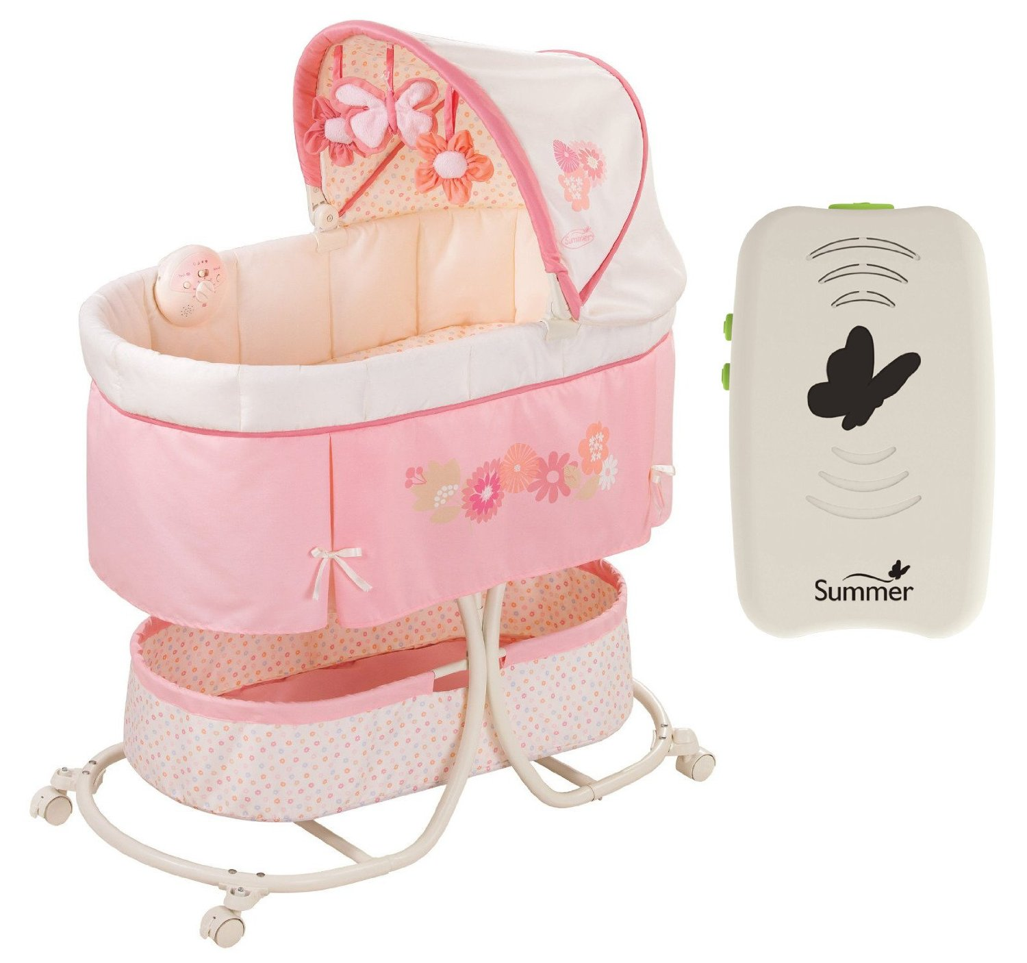 Summer Infant Soothe & Sleep Bassinet with Portable Soother
