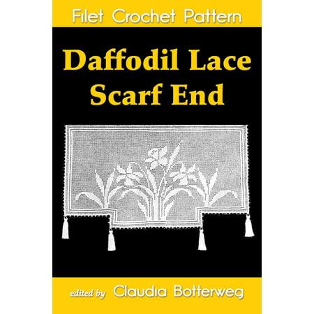 Daffodil Lace Scarf End Filet Crochet Pattern - eBook