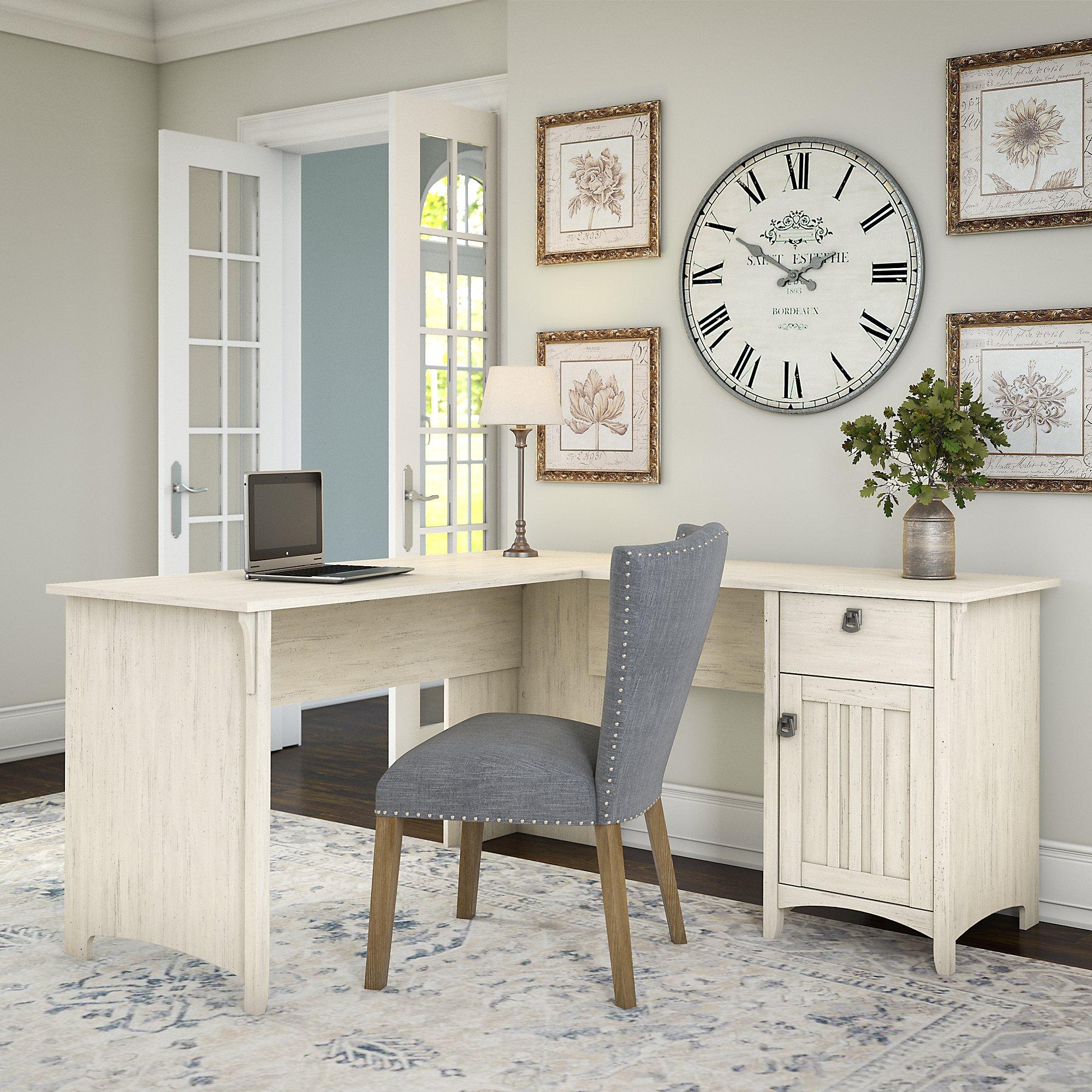 Bush Furniture Salinas L Shaped Desk With Storage In