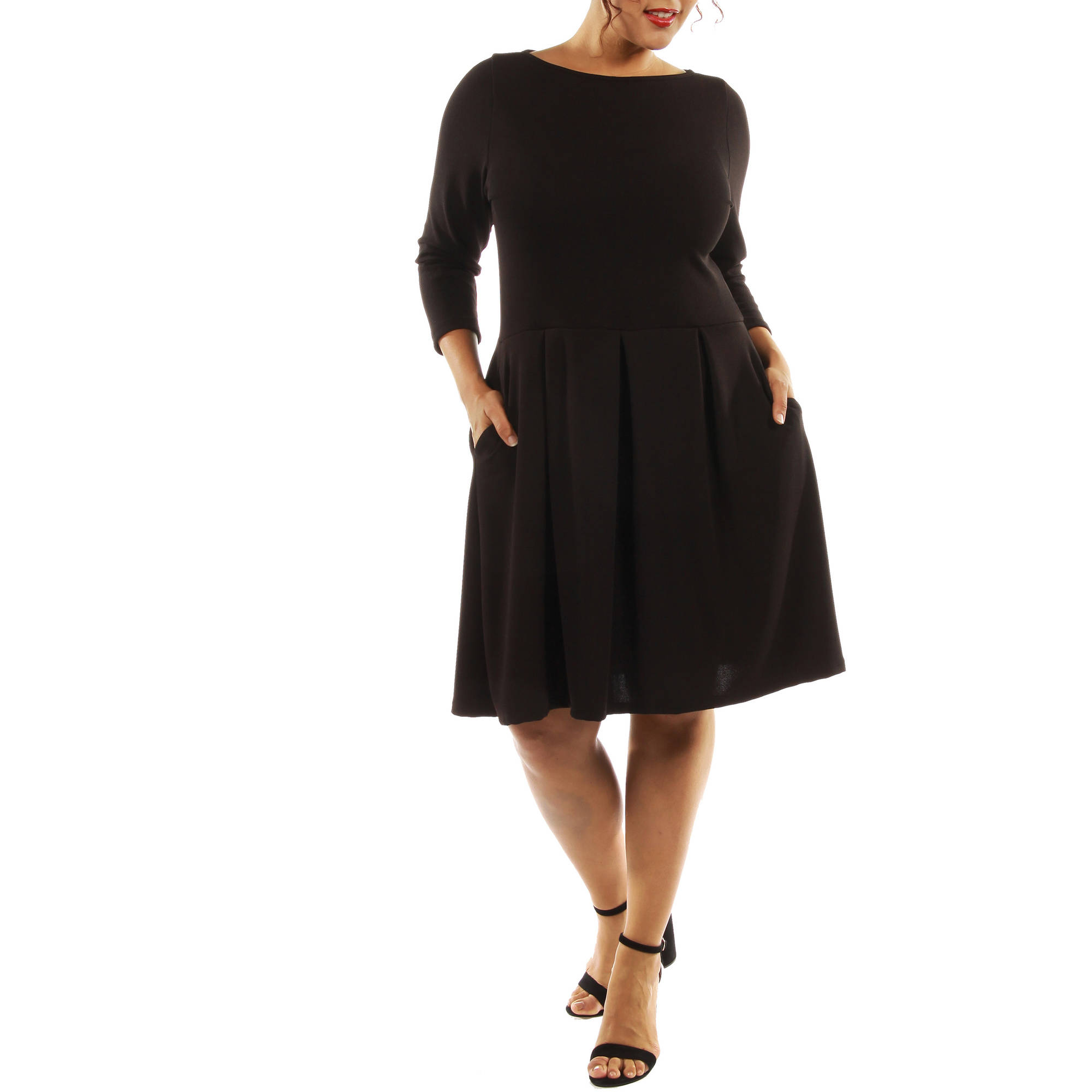 Brilliant Avital Classic Little Black Sleeveless Dress Womens Scoop Neck Casual