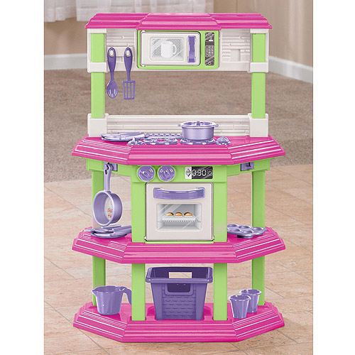 american plastic toys cookin kitchen with 22 accessories american plastic toys my own gourmet kitchen 9879