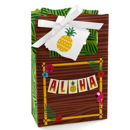 Tiki Luau - Tropical Hawaiian Summer Party Favor Boxes - Set of 12](Luau Party Bags)