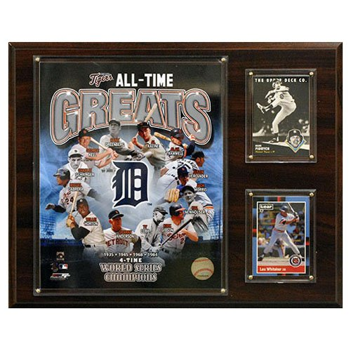 """MLB 12""""x15"""" Detroit Tigers All -Time Great Photo Plaque"""