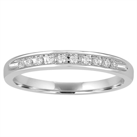 1/10 Carat T.W. Round Diamond Sterling Silver Wedding -