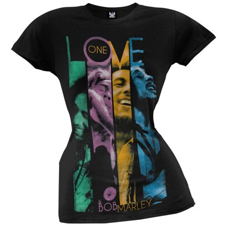 Junior Faces - Bob Marley - One Love Faces Juniors T-Shirt