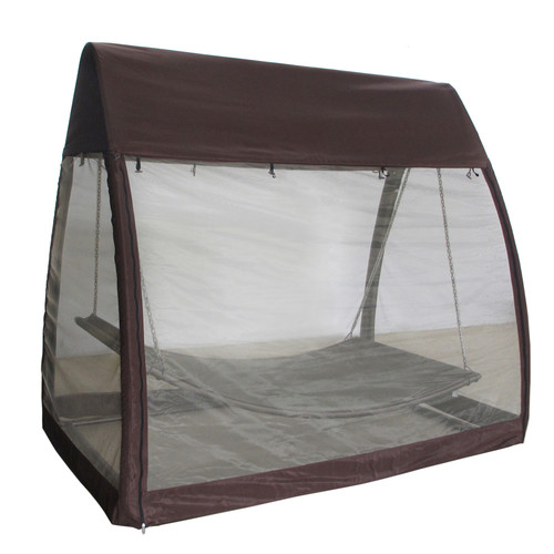 Abba Patio Outdoor Arched Canopy Cover Hanging Swing Hammock with Stand