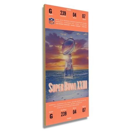 Super Bowl 42 Tickets (San Francisco 49ers Super Bowl XXIII Commemorative Mini-Mega Ticket - No Size )
