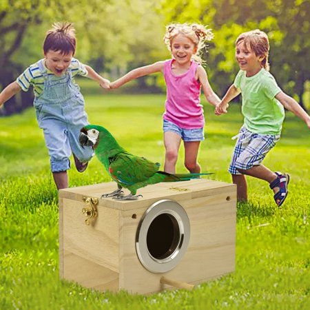 Parakeet Ne st Box Bird House Wood Breeding Box for Lovebirds Parrotlets Mating - image 5 of 6