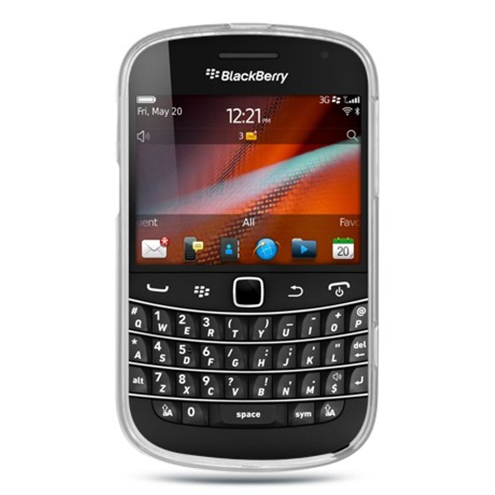 Insten Rubber Cover Case For BlackBerry Bold Touch 9900/9930 - Clear - image 1 of 2