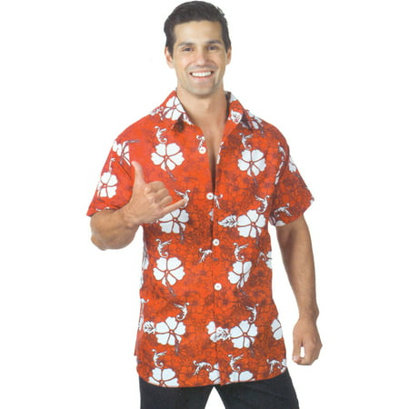 Red Hawaiian Shirt Adult Halloween Costume](Fantasy Island Halloween)