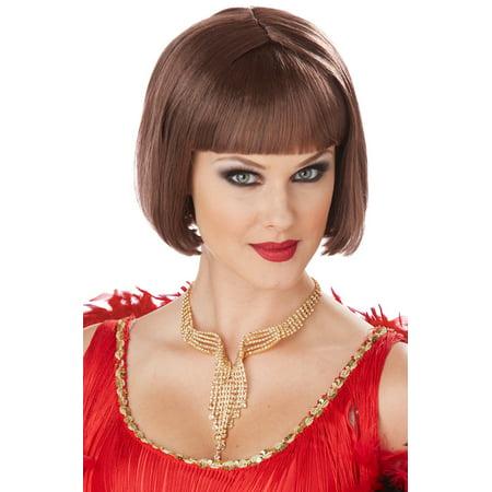 Classic Flapper Costume Wig (Brunette)](Long Brunette Wigs)