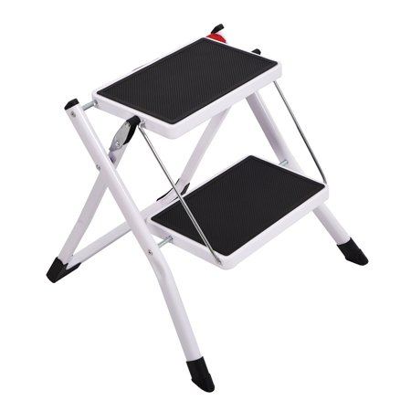Admirable Karmas Product Anti Slip Folding Step Stools Wide Platform Step Ladder 2 Step For Kitchen Home 220Lbs Capacity Andrewgaddart Wooden Chair Designs For Living Room Andrewgaddartcom