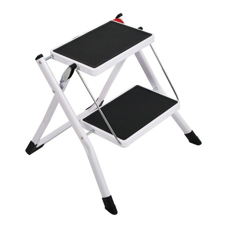 Admirable Karmas Product Anti Slip Folding Step Stools Wide Platform Step Ladder 2 Step For Kitchen Home 220Lbs Capacity Caraccident5 Cool Chair Designs And Ideas Caraccident5Info