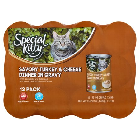 Special Kitty Savory Turkey & Cheese Dinner in Gravy, 13 oz, 12 Count](Halloween Savory Food)
