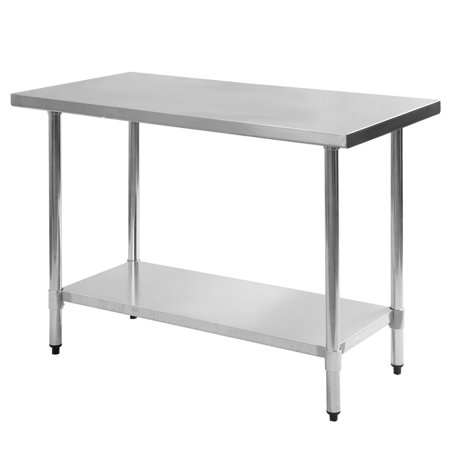 Costway 24\'\' x 48\'\' Stainless Steel Work Prep Table Commercial ...