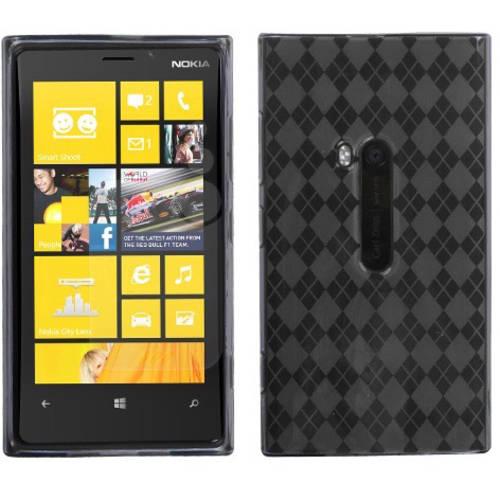 Nokia 920 Lumia MyBat Candy Skin Cover, Smoke Argyle
